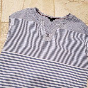 Tommy Hilfiger blue/white stripe linen shirt